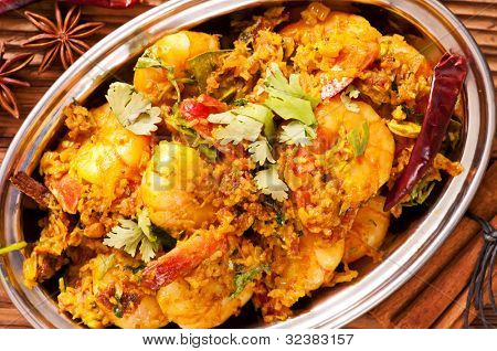 Prawns in masala fry