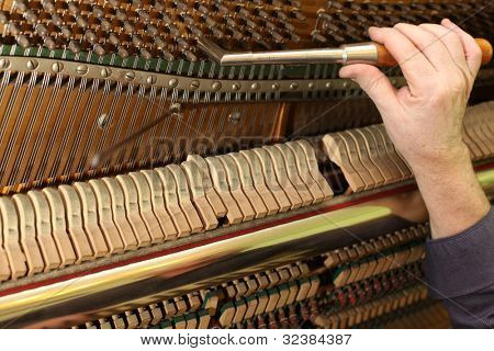 Piano tuning process