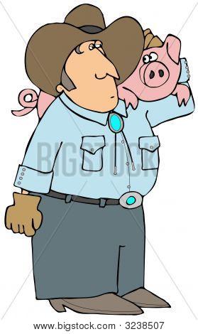 Agricultor de porco