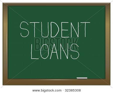 Student Loans Concept.