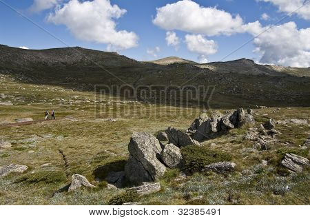 The Walking Track Upto Mount Kosciuszko In The Snowy Mountains, New South Wales, Australia.