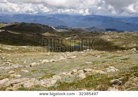 View From The Top Of Mount Kosciuszko. Australia.