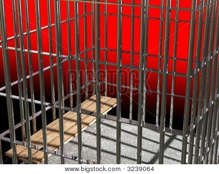 Metal Cage 3D, Concept Of Jail 04