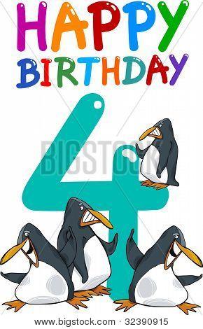 Fourth Birthday Anniversary Design