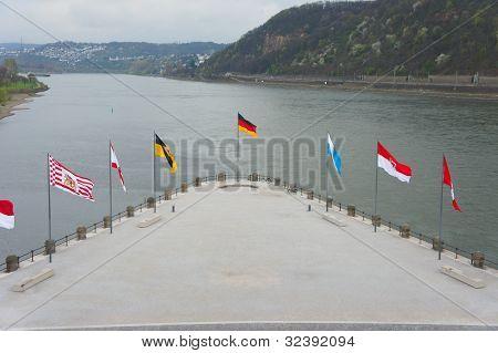 German Corner In Koblenz, Germany