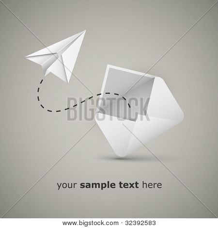 Message from an envelope - Paper airplane message