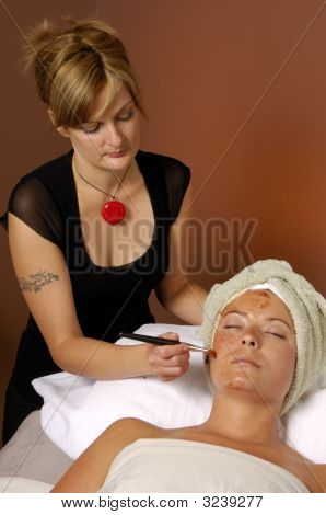 Spa Facial Masque Applied By Esthetician