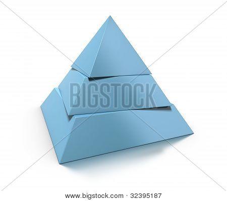 3d pyramid three levels