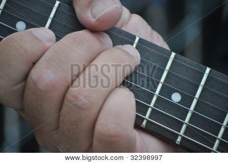 guitar, finger, board