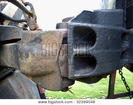 Dispositivo de engate de ferro velho
