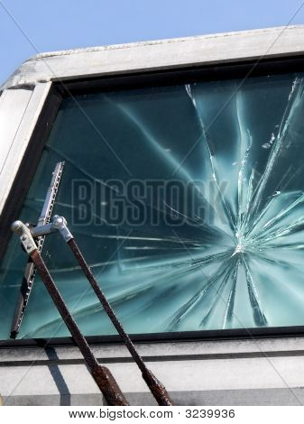 Shattered Glass Windshield
