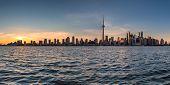Panorama Of Toronto City At Sunset,  Toronto, Ontario, Canada. poster
