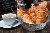 picture of croissant  - fresh croissant on table  - JPG