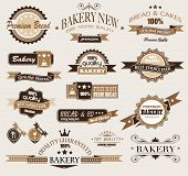 Premium collection of Bakery themed vintage style labels. A lot of different styles and shapes with