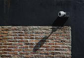 Cctv Security Camera On Exterior Wall At Home Office For Surveillance Security Monitoring Home Guard poster