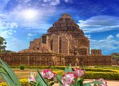 picture of surya  - general plan for the temple of the sun Konark India - JPG