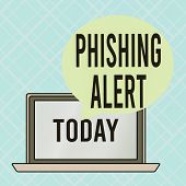 Conceptual Hand Writing Showing Phishing Alert. Business Photo Text Aware To Fraudulent Attempt To O poster