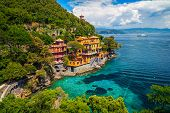 Admirable Summer Vacation Location, Mediterranean Colorful Luxury Waterfront Villas And Stunning Bay poster