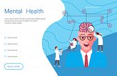 Web Page Of Mental Health. Metaphor Of Split Personality Disorder, Borderline Disorder, Schizophreni poster
