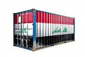 The Concept Of  Irak Export-import, Container Transporting And National Delivery Of Goods. The Trans poster