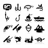 pic of fly rod  - Electrician icons set Elegant series - JPG