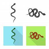 Vector Illustration Of Mammal And Danger Logo. Collection Of Mammal And Medicine Vector Icon For Sto poster