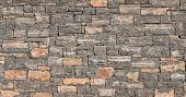 Hd Texture Of A Stone. Old Stone Wall Texture Background. Grey Stone Wall As A Background Or Texture poster