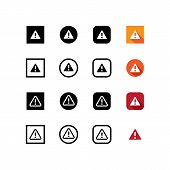 Warning Icon Isolated On White Background. Warning Icon In Trendy Design Style. Warning Vector Icon  poster
