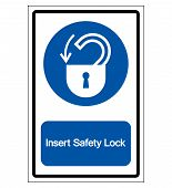 Insert Safety Lock Symbol Sign,vector Illustration, Isolated On White Background Label. Eps10 poster