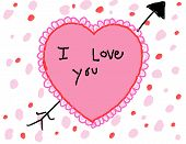 Child's I Love You Valentine Card