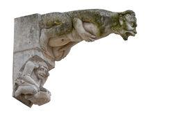 pic of poitiers  - Gargoyle in Saint Pierre of Poitiers 13th century - JPG