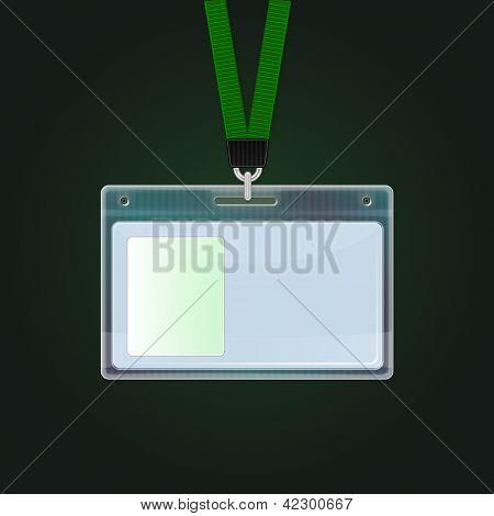 Insignia de identificación plástico. Icono de la tarjeta de identificación.