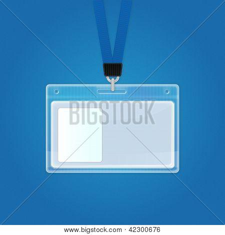 Crachá de identificação de plástico. Ícone do cartão de identificação.