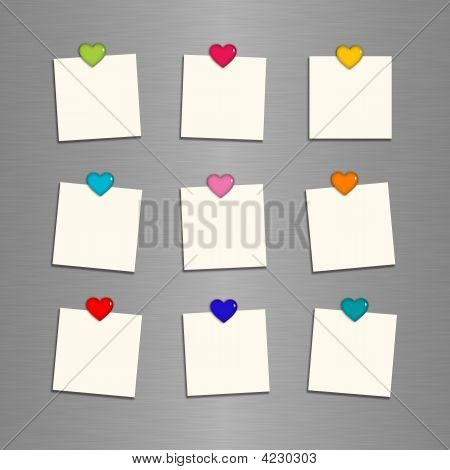 Reminder Cards With Hearts