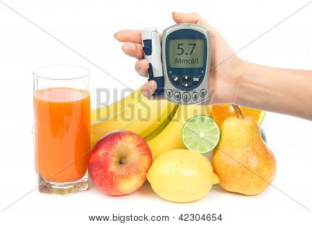 Diet Weight Loss Food Breakfast Concept With Orange, Pear, Apple