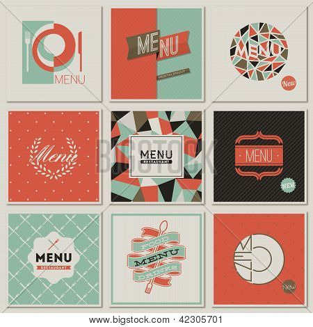 Restaurant Menu Designs. Collection Of Retro-styled Vector Illustrations.