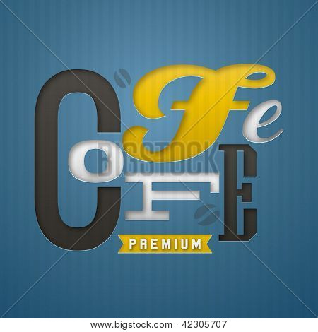 Coffee Label Design. Vector Illustration.