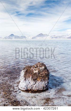 Flooded Bonneville Salt Flats In Utah, Usa.