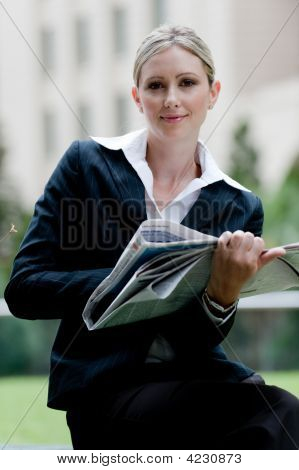 Businesswoman Outside