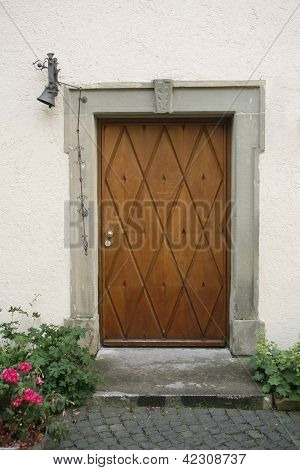 Nostalgic Wooden Entrance Door