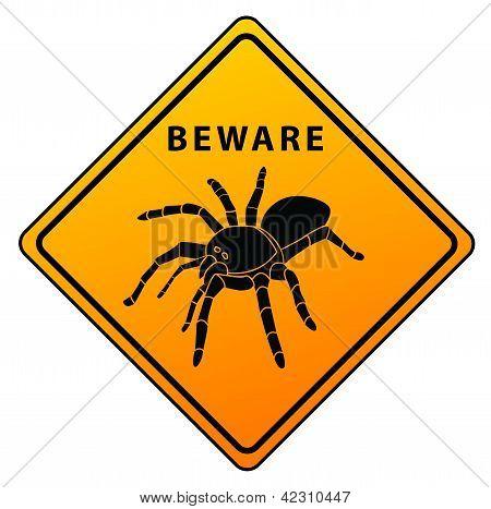 Spider Beware Sign