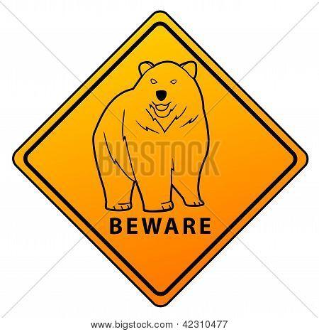 Bear Beware Sign