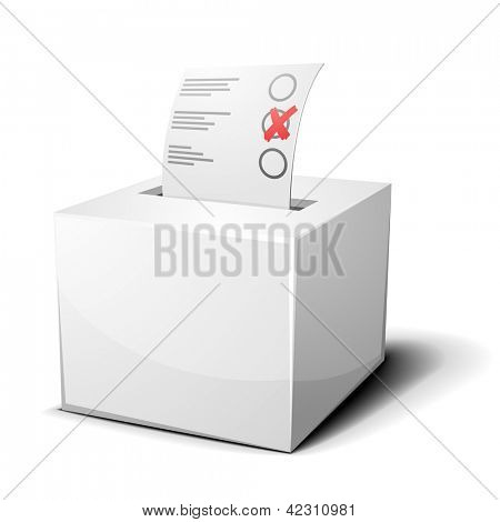 detailed illustration of a ballot box isolated on white, eps 10