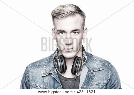 Portrait from a young dj