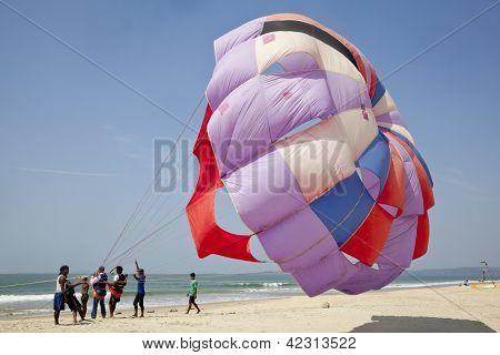 Paragliding Beach Landscape