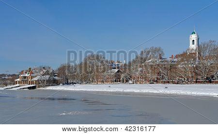 Cambridge-Winterlandschaft