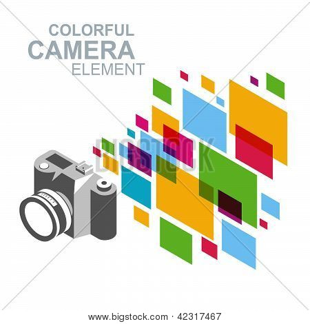 photo camera colorful element