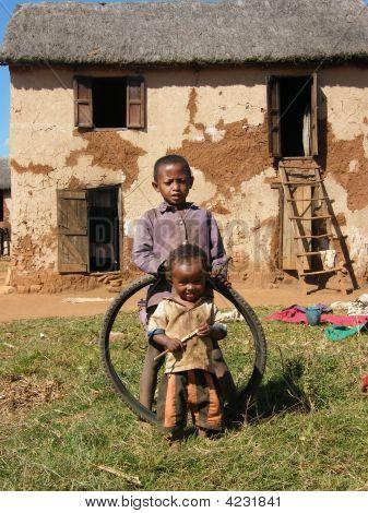 Native Children Of Madagascar
