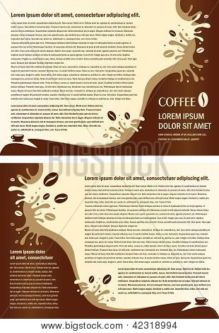 Brochure Folder Coffee Beans Element Design