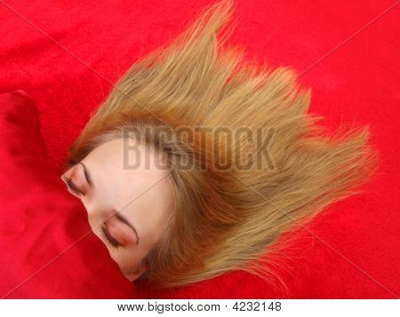 Girl Asleep W/Hair Spread Out